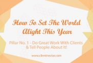 Do great work with client and tell people about it
