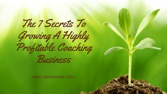 The 7 Secrets To Growing A Highly Profitable Coaching Business