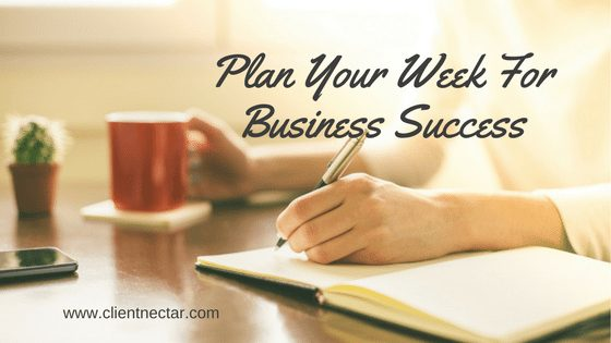 Plan Your Working Week For Business Success